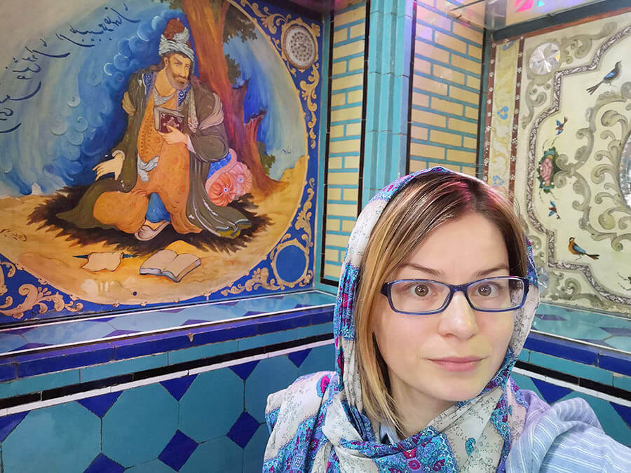 In a traditional Persian restaurant in Isfahan